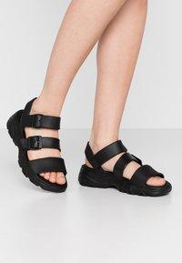 Skechers Sport - CALI - Platform sandals - black - 0