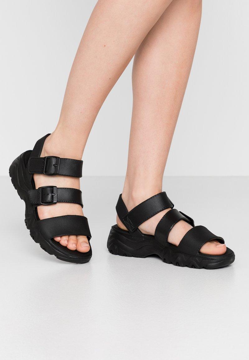 Skechers Sport - CALI - Platform sandals - black