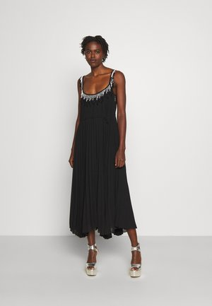 BEADED PLEATED DRESS - Cocktail dress / Party dress - black