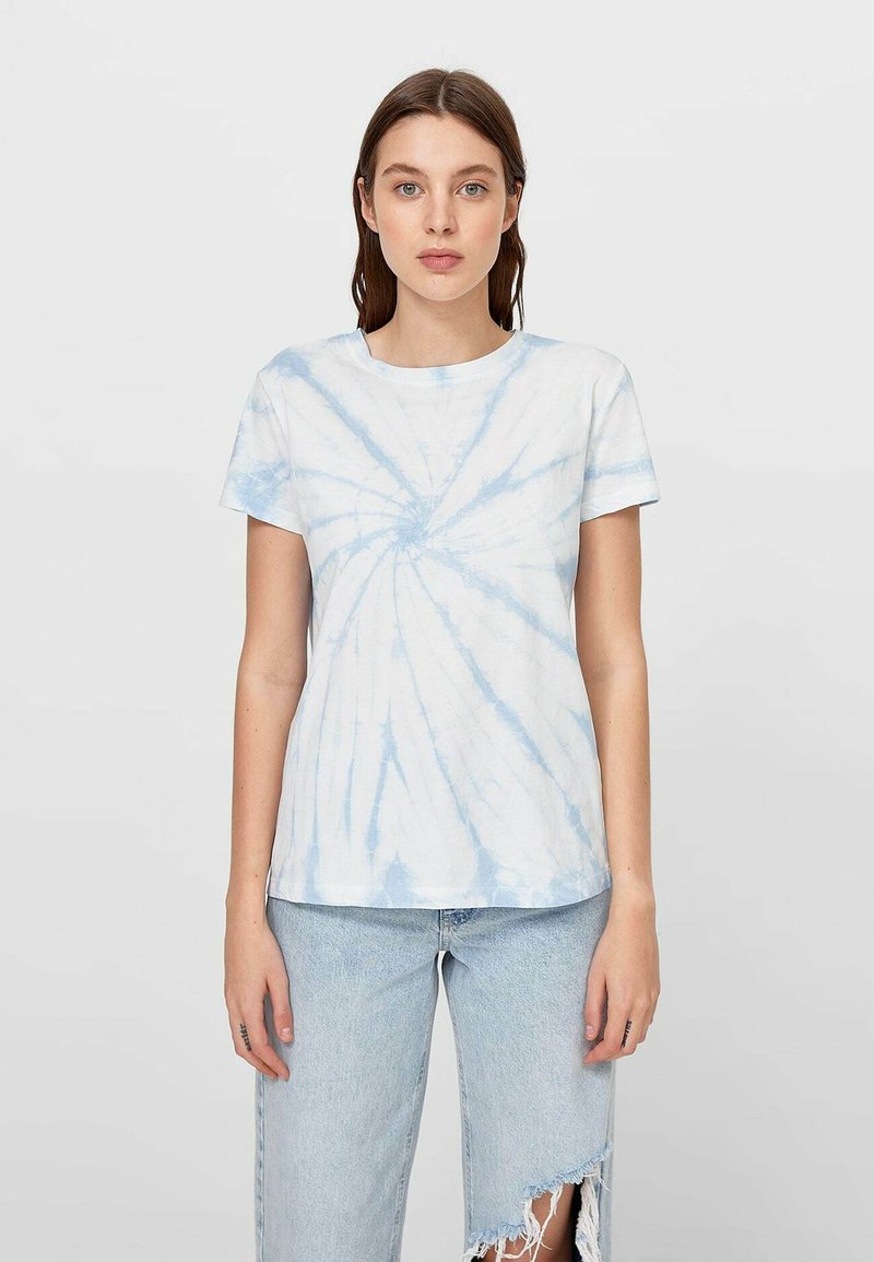 Stradivarius - T-shirts print - light blue