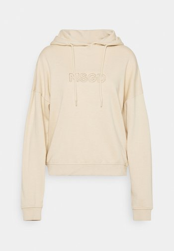 OVERSIZED HOODIE - Sweatshirt - camel