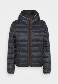 QUILTED HOODED JACKET - Light jacket - black