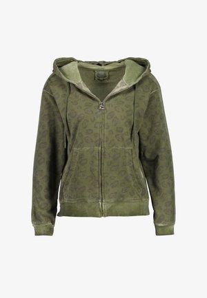 RICH  - Zip-up sweatshirt - vinegard green
