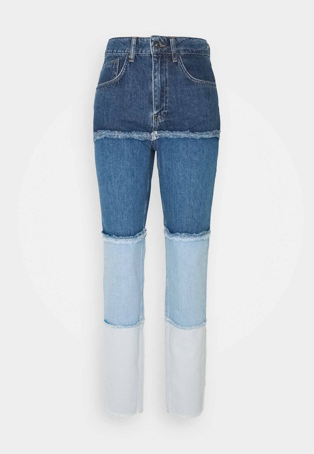 OMBRE MOM - Straight leg jeans - indigo/mid/light blue/stonewash