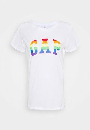 TEE PRIDE - T-shirt z nadrukiem - white