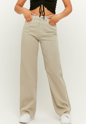 HIGH WAIST - Flared Jeans - beige
