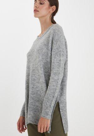 IHAMARA - Stickad tröja - grey melange