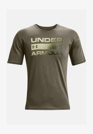 UA TEAM ISSUE WORDMARK  - T-shirt med print - victory green