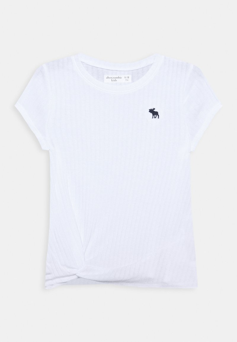 Abercrombie & Fitch - TWIST - Basic T-shirt - white