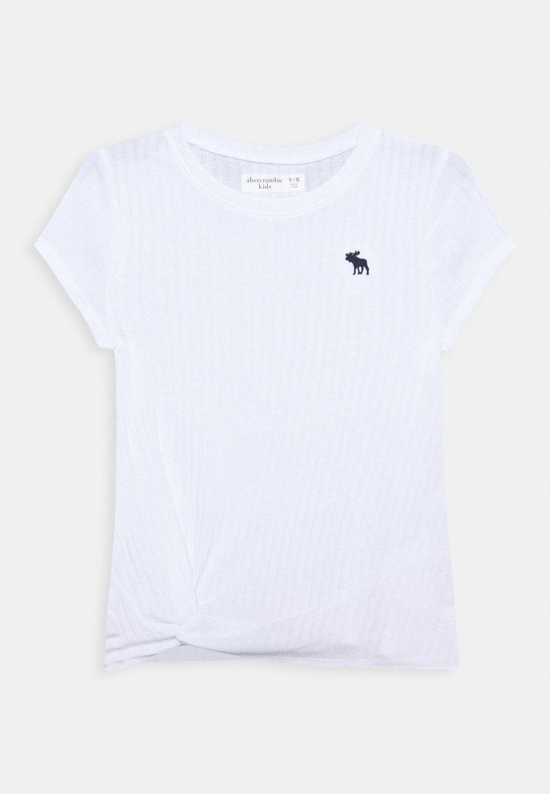 Abercrombie & Fitch - TWIST - Jednoduché triko - white