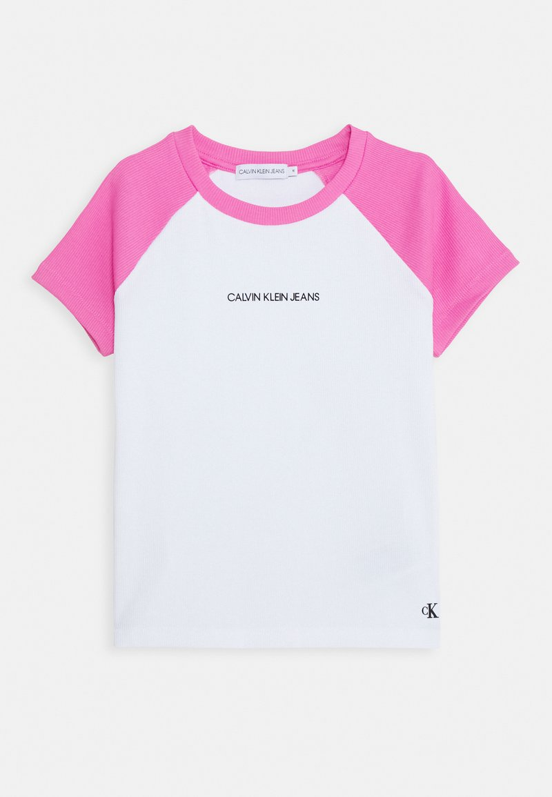 Calvin Klein Jeans - COLORBLOCK - Print T-shirt - pink