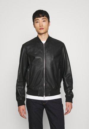 BLOUSON - Leather jacket - nero