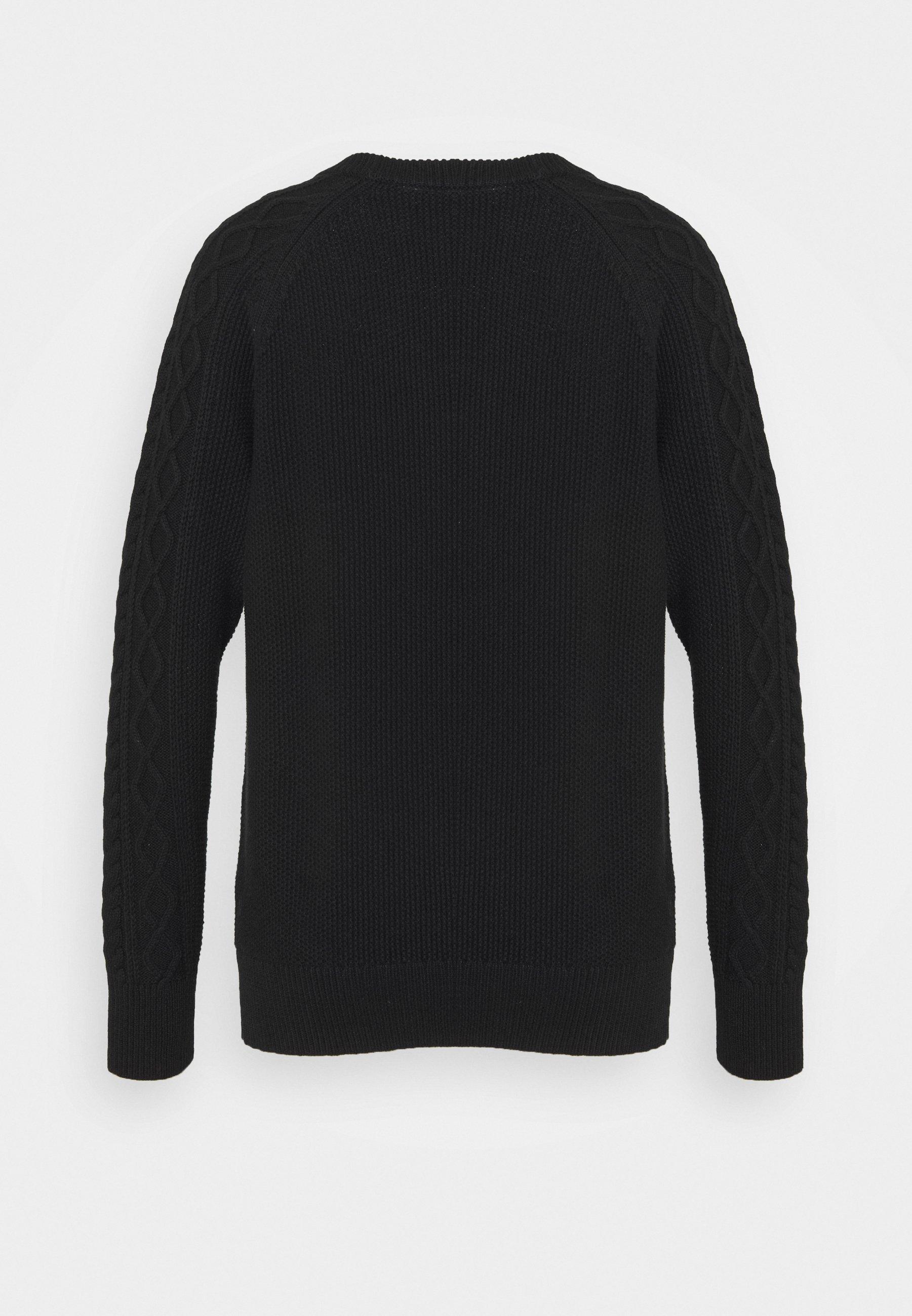 GAP CABLE NECK - Strikkegenser - true black