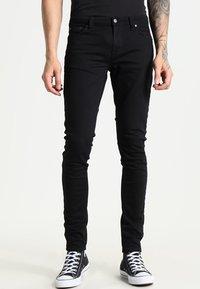 Nudie Jeans - LIN - Jeans Skinny Fit - black denim - 0