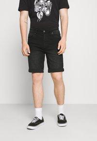 Denim Project - MR ORANGE - Jeans Short / cowboy shorts - black washed - 0