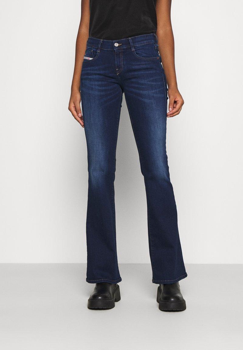 Diesel - D-EBBEY - Flared Jeans - dark blue