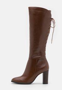 San Marina - EGO - Šněrovací vysoké boty - cognac - 1