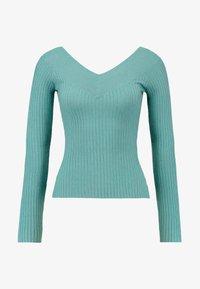 Even&Odd - Stickad tröja - turquoise - 4