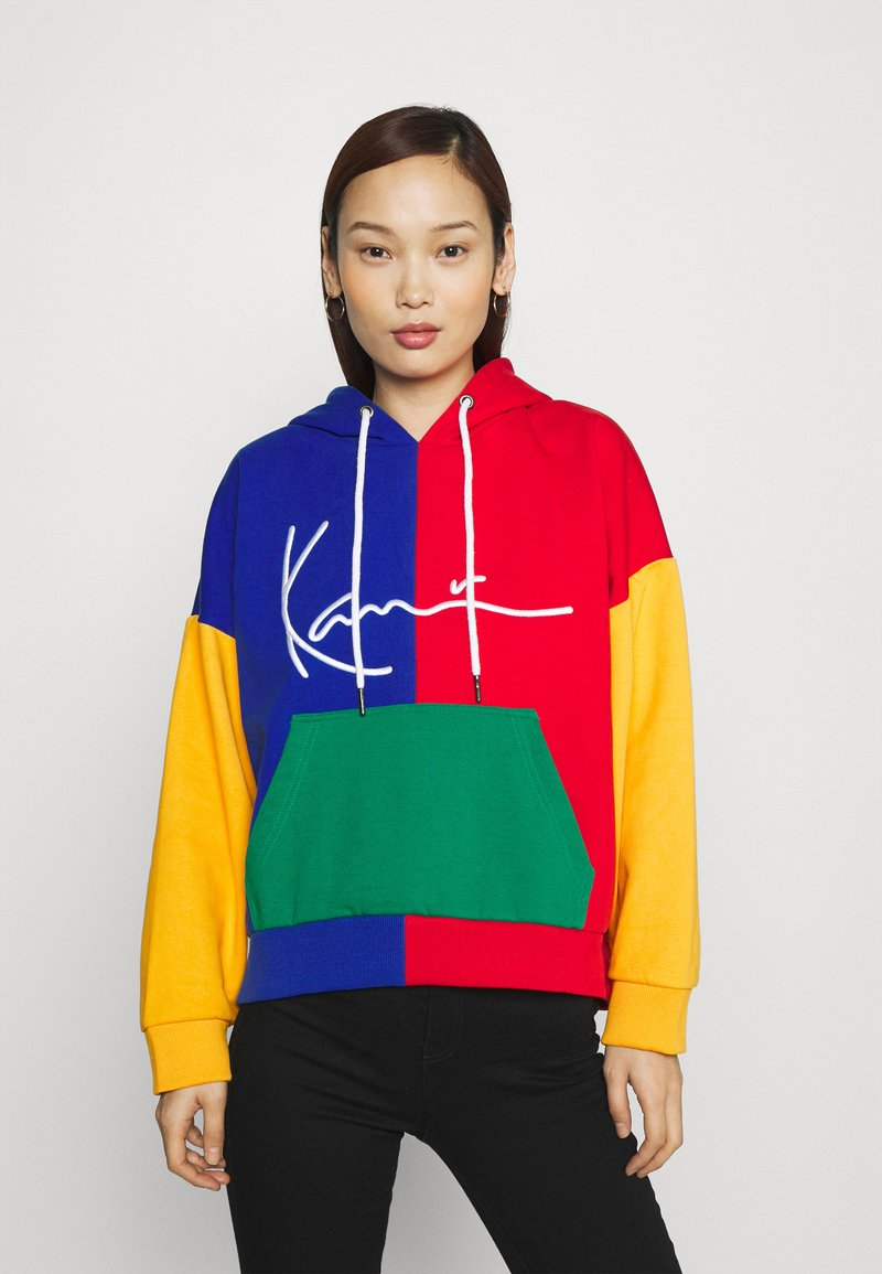 Karl Kani - SIGNATURE BLOCK HOODIE - Sweatshirt - multicolor