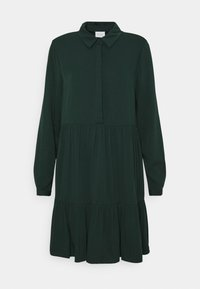 Vila - VIMOROSE SHIRT DRESS - Day dress - darkest spruce - 4