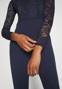Anna Field - OCCASION - LONG SLEEVES LACE TOP JUMPSUIT - Combinaison - maritime blue - 6