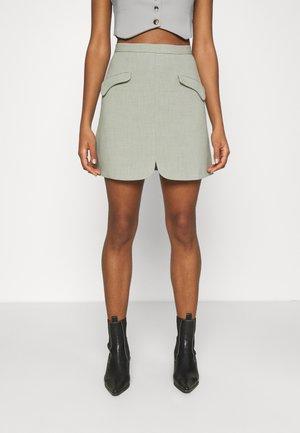 BIRCH SKIRT - Mini skirt - sage green