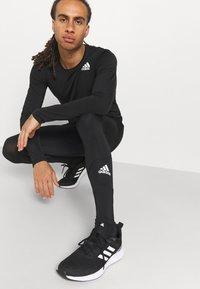 adidas Performance - LONG TECHFIT PRIMEGREEN SPORTS LEGGINGS - Tights - black - 3