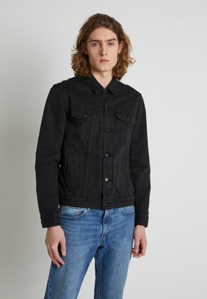 WELLTHREAD TRUCKER - Denim jacket - breaking wave black