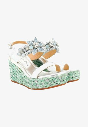 Wedge sandals - silver