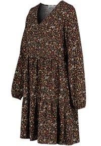 Sublevel - FREIZEITKLEID MIT BLUMENPRINT - Day dress - black - 5