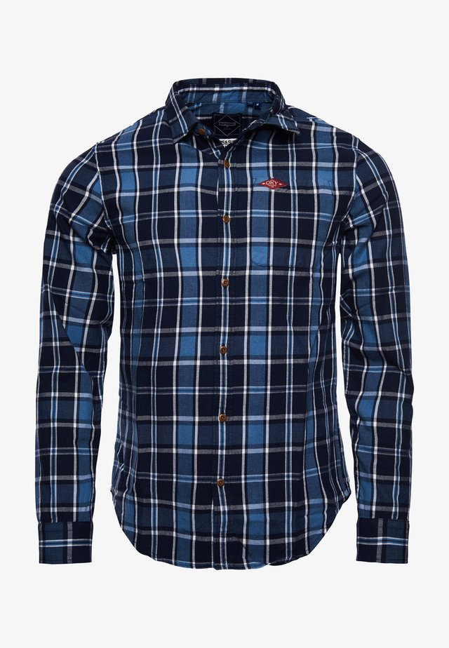 Overhemd - sun fade navy check