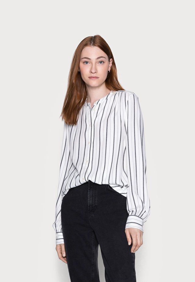 SHIRRED - Blouse - black white
