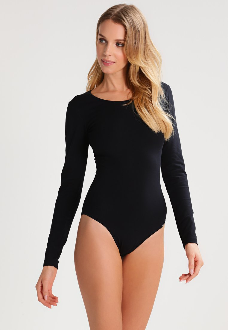 Skiny - DAMEN BODY LANGARM - Body - black