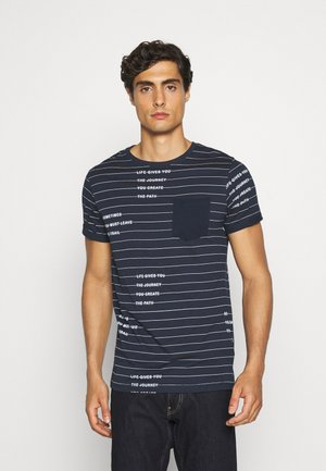 ECHOLS - T-Shirt print - navy