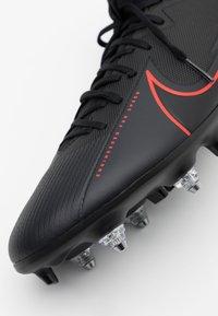 Nike Performance - MERCURIAL 7 ACADEMY SG-PRO AC - Screw-in stud football boots - black/dark smoke grey - 5