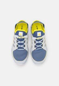 adidas Performance - TERREX HYDROTERRA UNISEC - Hiking shoes - crew blue/footwear white/acid yellow - 3