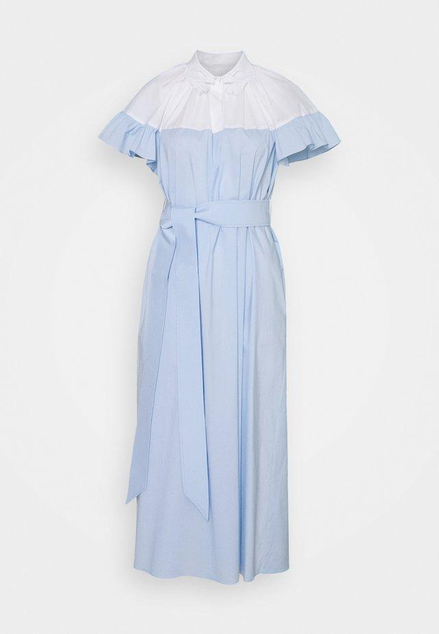 Długa sukienka - unito bianco/azzurro
