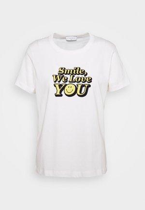 VINTY - Print T-shirt - ecru