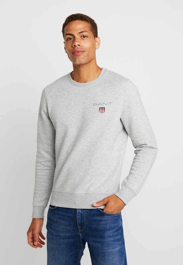 MEDIUM SHIELD CNECK - Sweatshirt - light grey melange