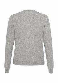 cashmere stories - RUNDHALS - Cardigan - silber melange - 6