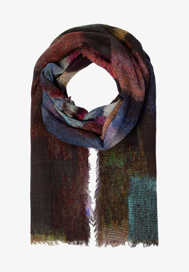 MIT DIGITALPRINT - Scarf - braun multicolor