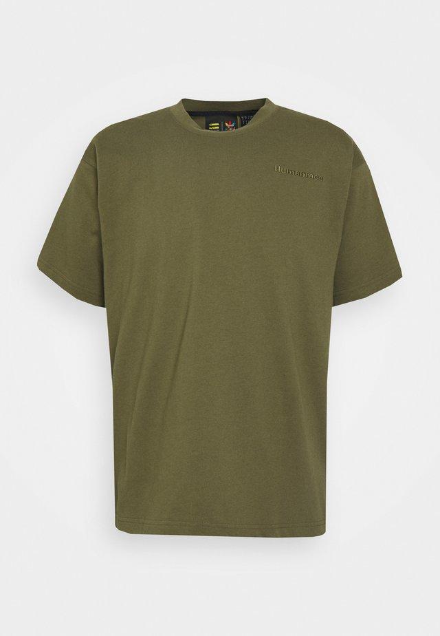 BASICS UNISEX - Jednoduché triko - olive