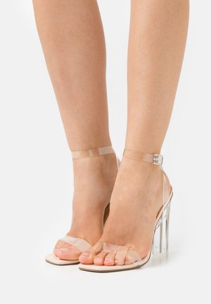SQUARE TOE ILLUSION CLEAR - Sandals - nude