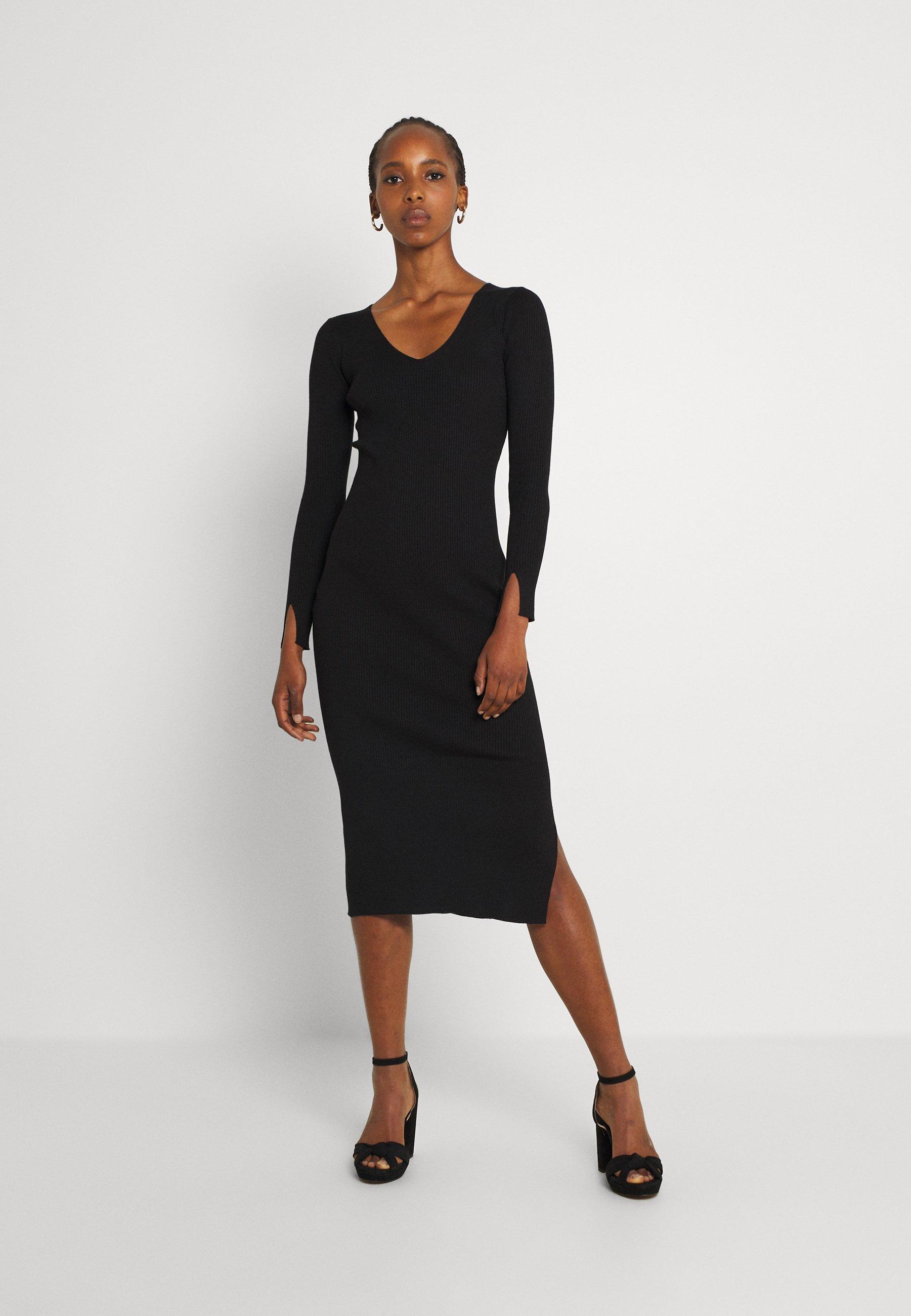 Women KOURTNEY V NECK DRESS - Jumper dress
