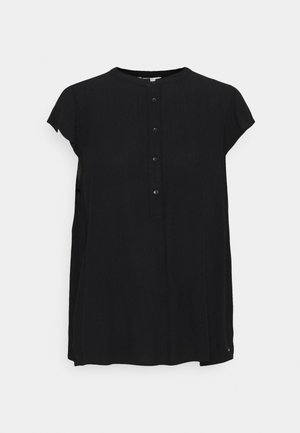 EASY TUNIC WITH NECK DETAIL - Tunic - deep black