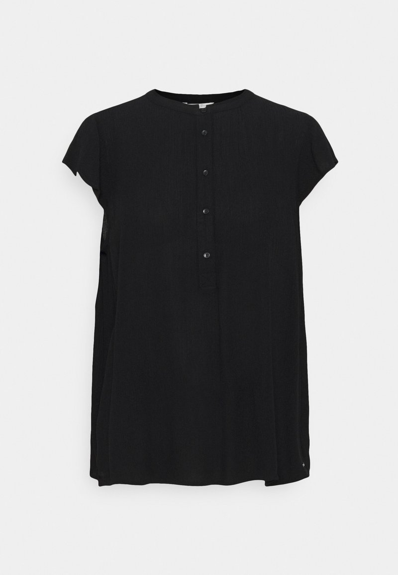 TOM TAILOR DENIM - EASY TUNIC WITH NECK DETAIL - Tunic - deep black