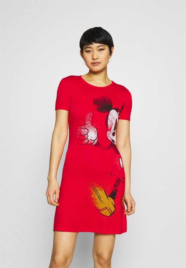 MICKEY - Robe en jersey - red