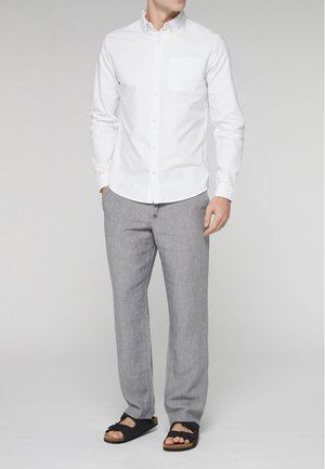 LONG SLEEVE OXFORD - Camicia - white