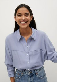 Mango - LEONE - Button-down blouse - blau - 0
