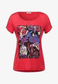 Cecil - BURNOUT OPTIK - Print T-shirt - rot - 3